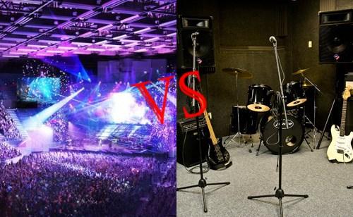 salle répét vs salle concert