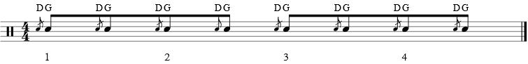 Rudiment batterie - Fla gauche