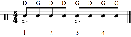 Rudiment batterie - Moulin accent