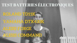 Test batteries électroniques - Roland TD11K, Yamaha DTX430K, Alesis Forge, Alesis Command - Batteur Extrême