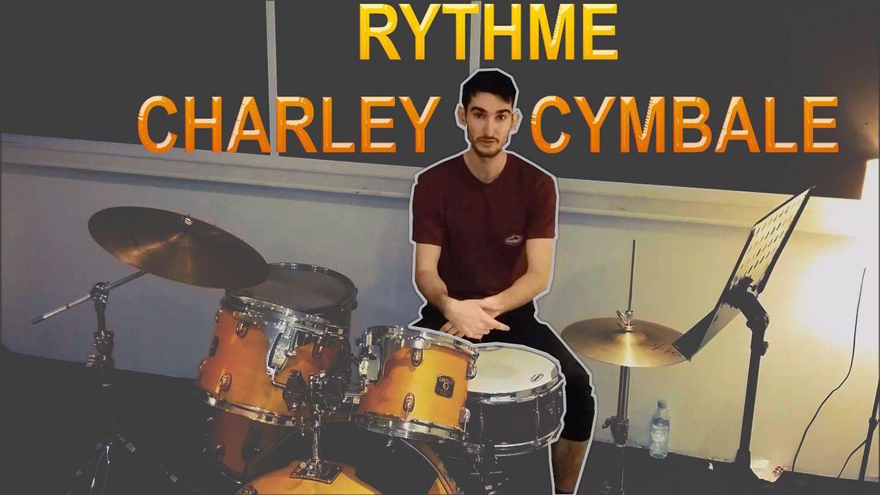 Rythme de batterie charley-cymbale