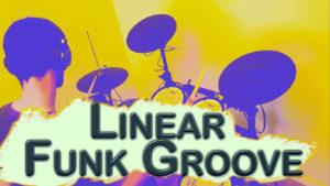 linear funk groove à la batterie