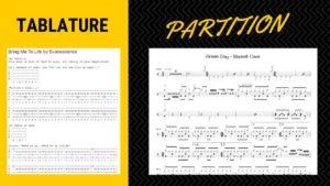Différence entre partition et tablature