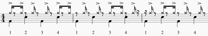 illusions rythmiques accent toutes les 3 double croche 1