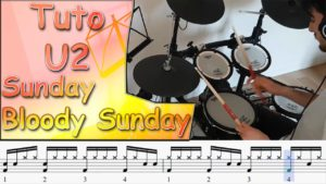 tuto batterie U2 - sunday bloody sunday