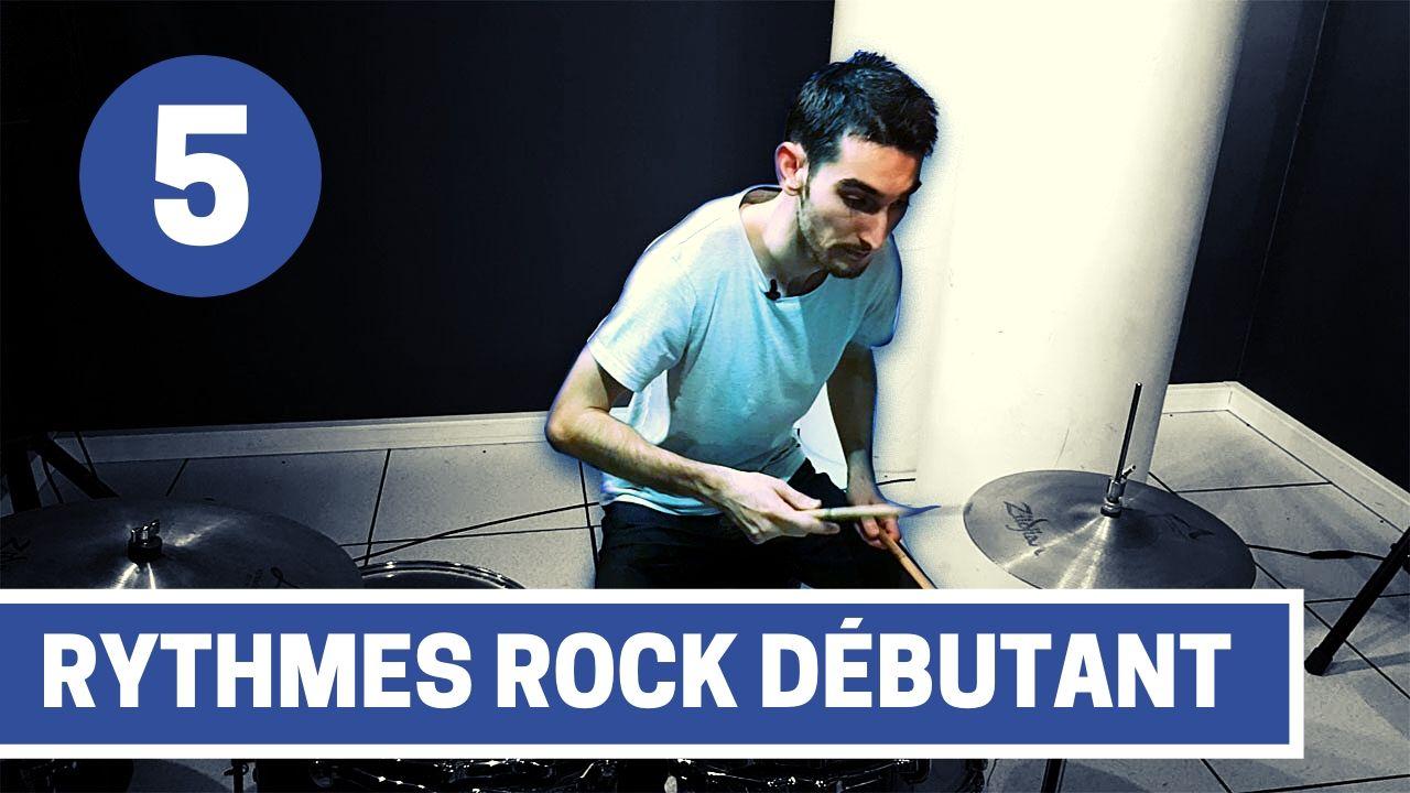 cours de batterie - 5 rythmes rock débutant