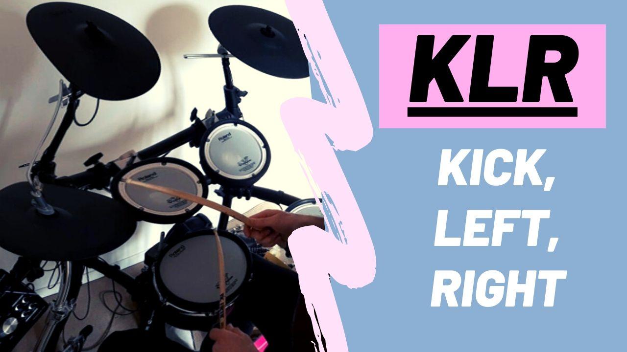 Kick left right - cycle de 3 à la batterie