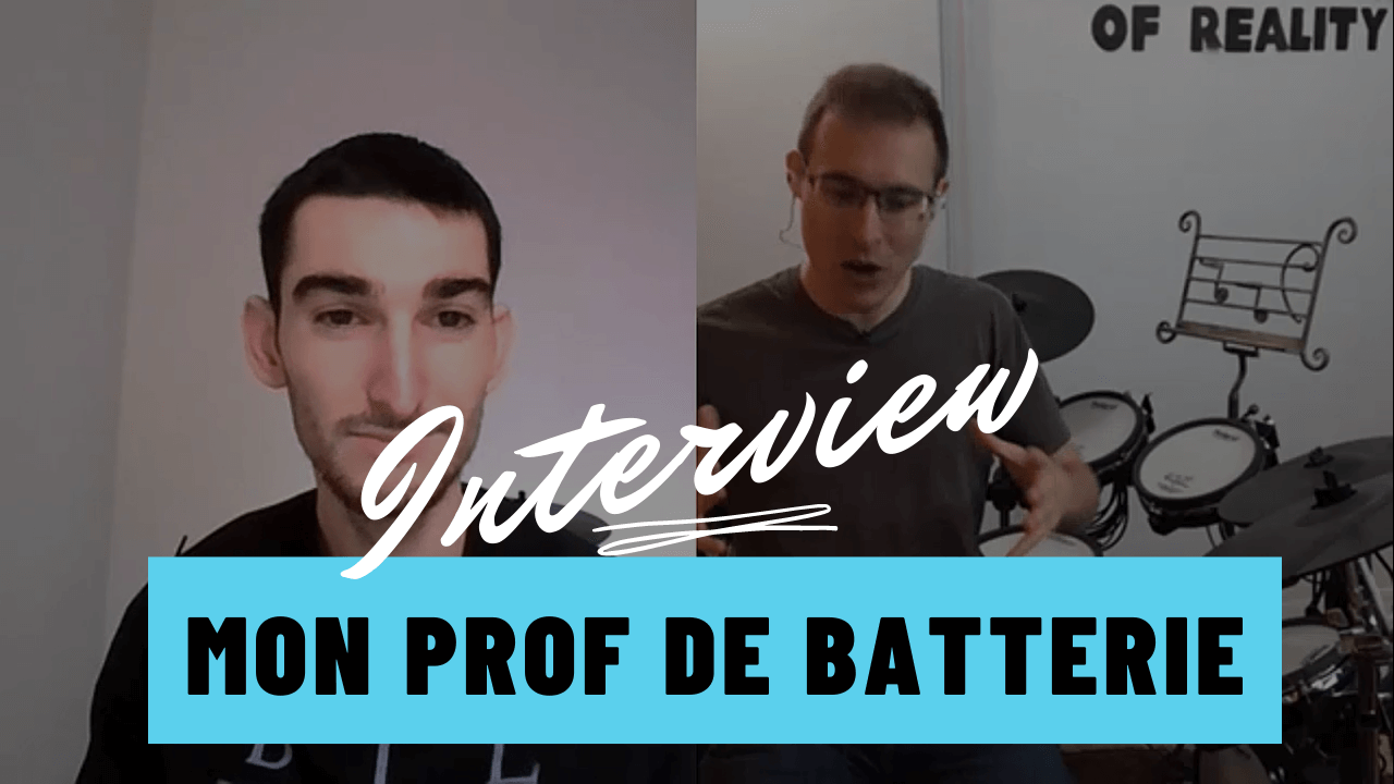 interview mon prof de batterie